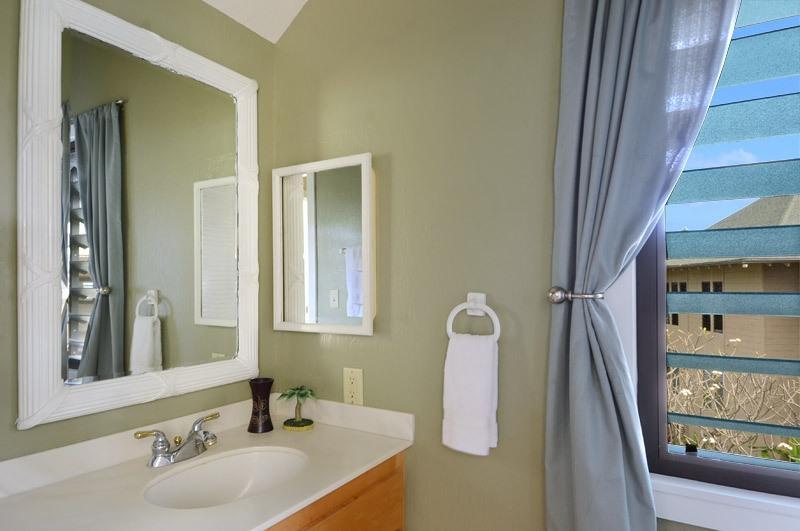 Maestro cuarto de baño, ducha, vistas a la montaña
