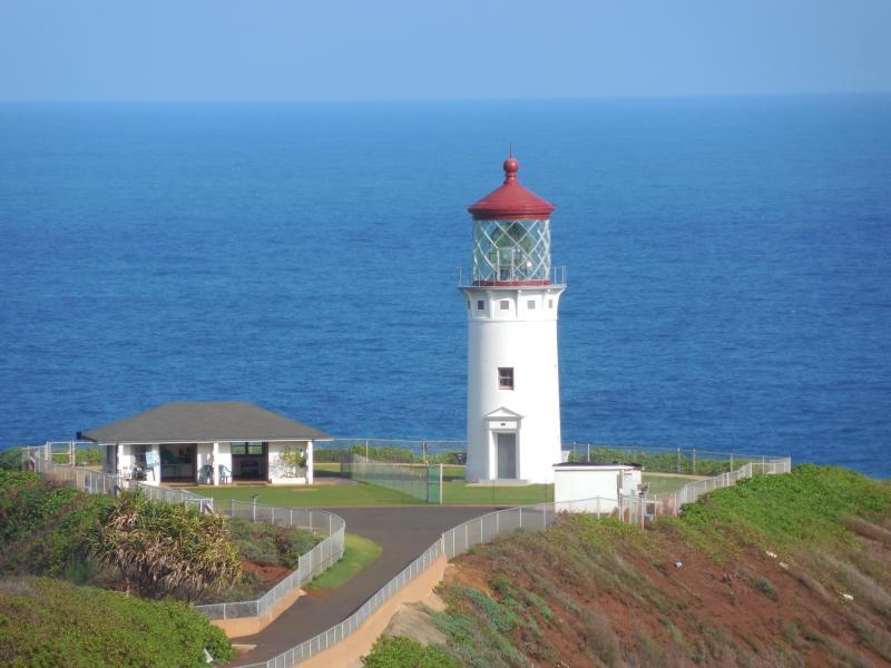 Casa de luz en la costa norte, este es el más lejano norte punto en Hawai.