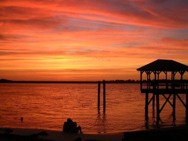 Sunset over Back River