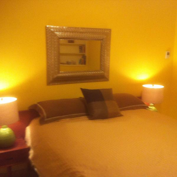 The Queen Room is a 5 step bedroom with radiant tile flooring--a real retreat!