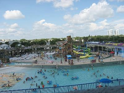 Daytona Lagoon waterpark to the north in Daytona.