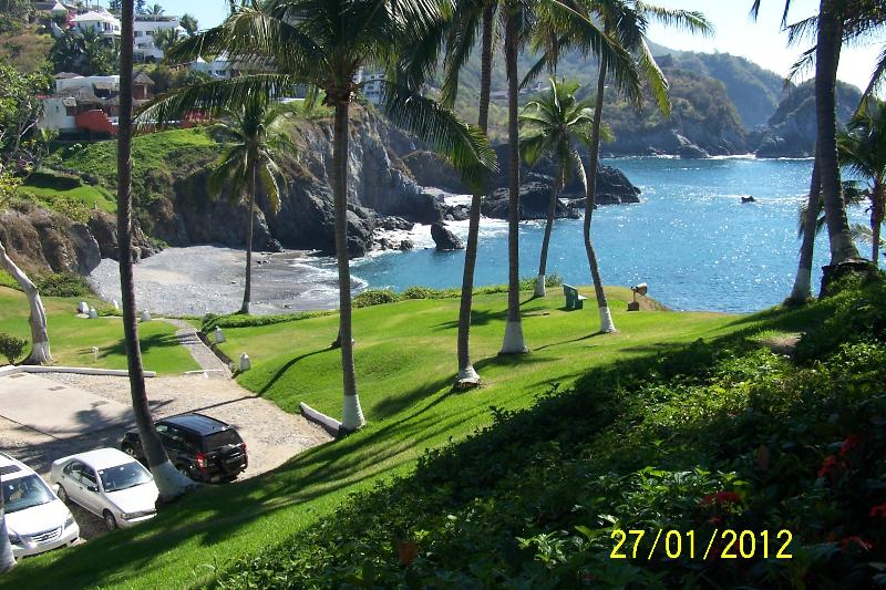 A view of the grounds and  the beach at Vida Del Mar.