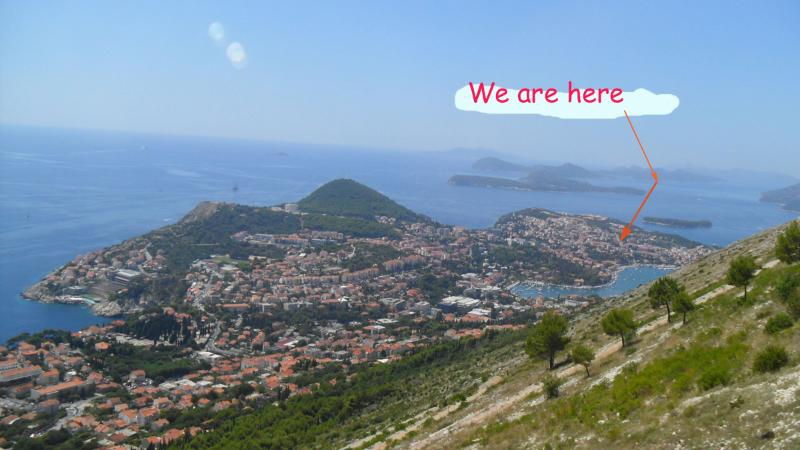 Dubrovnik, view on Lapad peninsula and the surrounding islands
