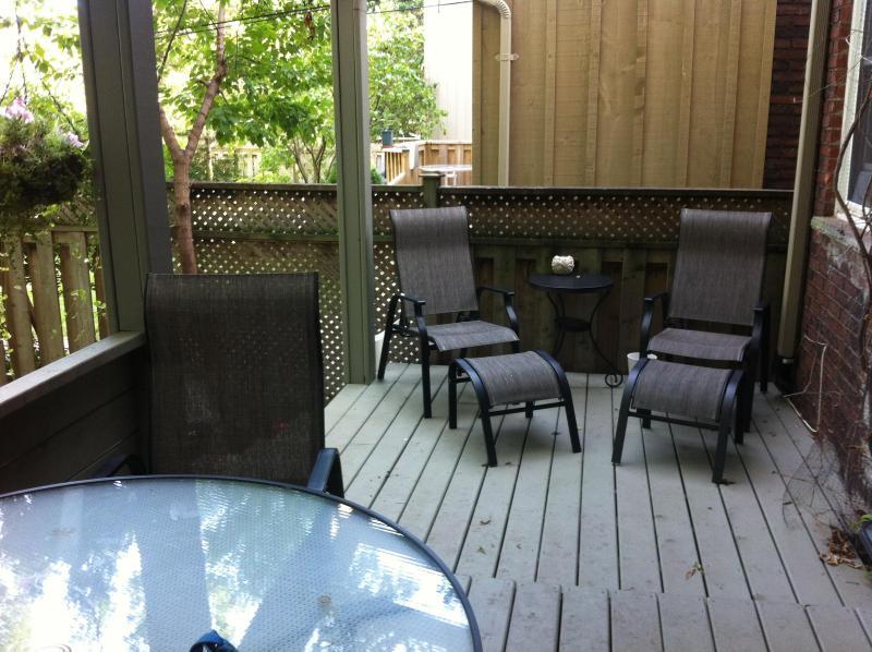 rear porch partially covered
