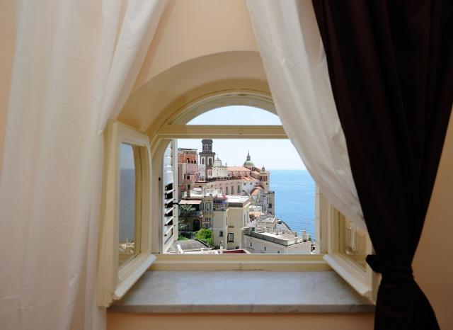 Bedroom window overlooking the sea