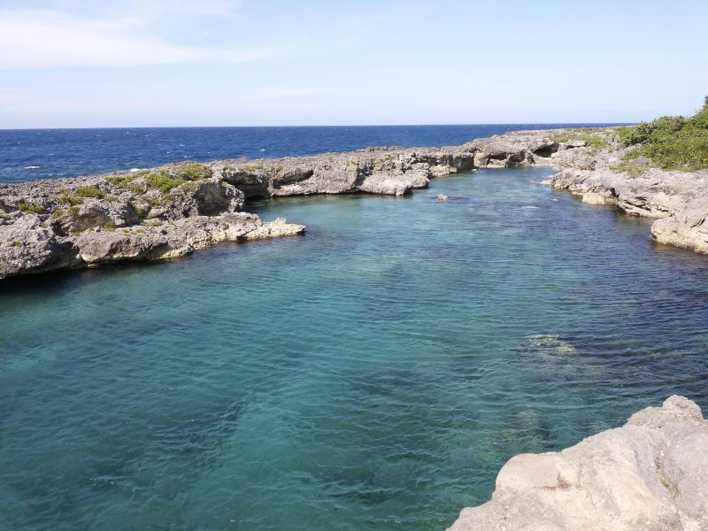 The sheltered cove is great for swimming and snorkelling.