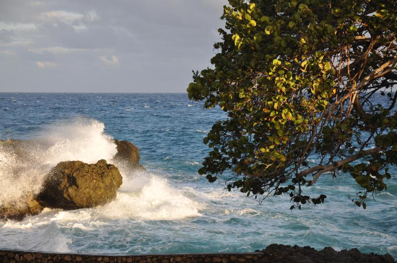 When the sea at Chukka Cove is rough, it's beautiful but swimming is not allowed.