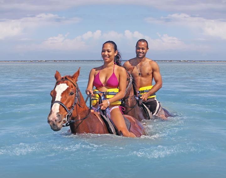 The famous Chukka Horseback Ride 'N' Swim tour