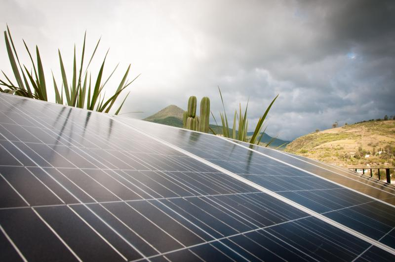 Copowered by solar generated electricity