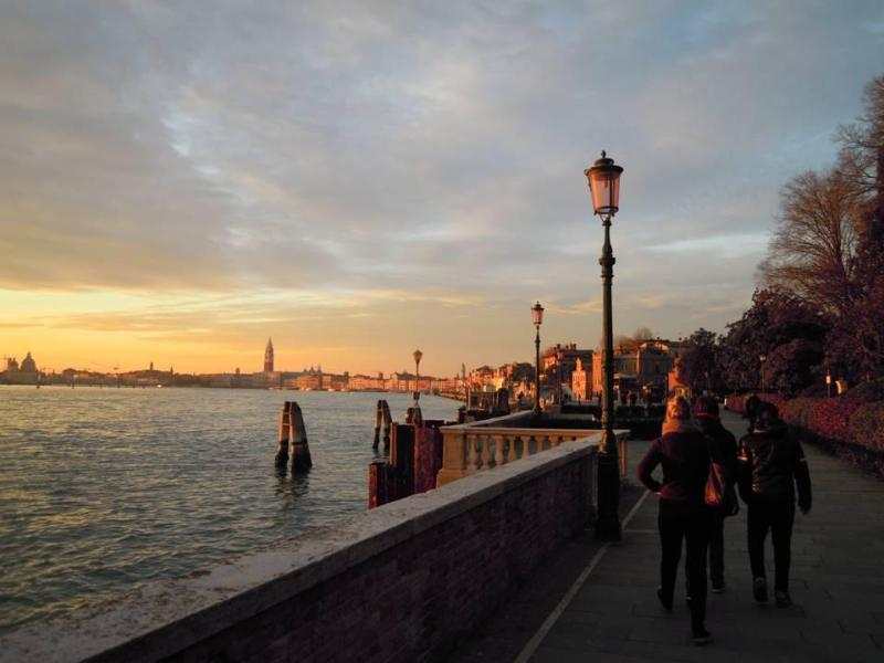 the beautiful walk to San Marco square