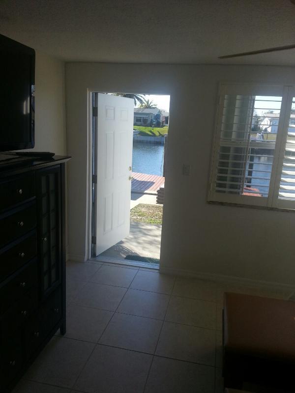 Bedroom 2 door leading to the dock!