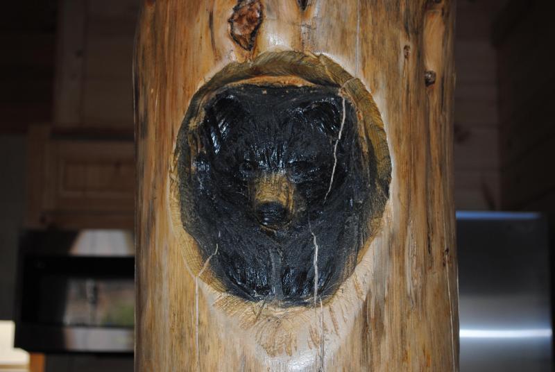 Beer Carving in steun Tree
