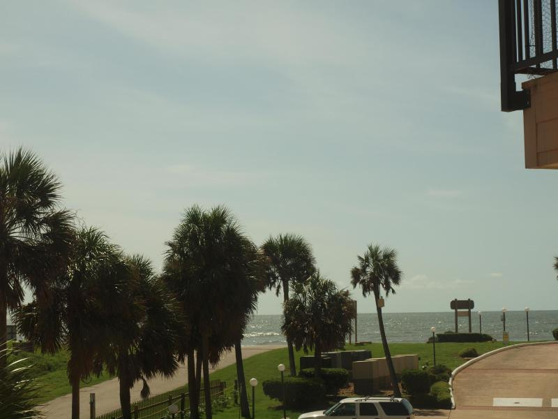 View from the balcony to the Gulf of Mexico