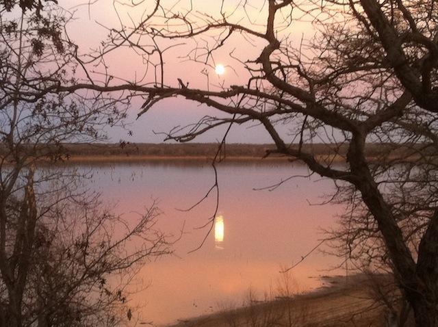 Lever de la lune depuis le pont