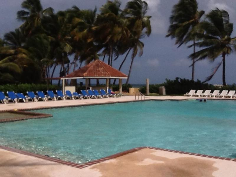 Beach club pool and snack bar