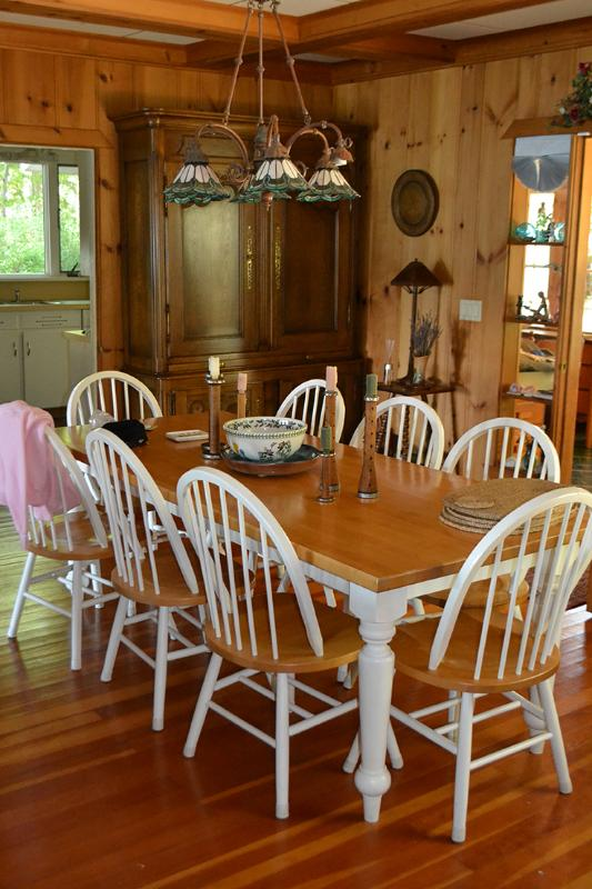 Dining room table.  Seats 8 people.