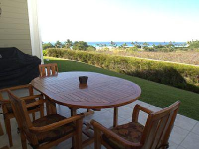 Seclusion and unobstructed view from the large lanai with stainless steel grill.
