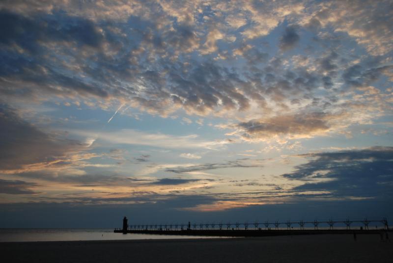lighthouse & sunset at South Beach