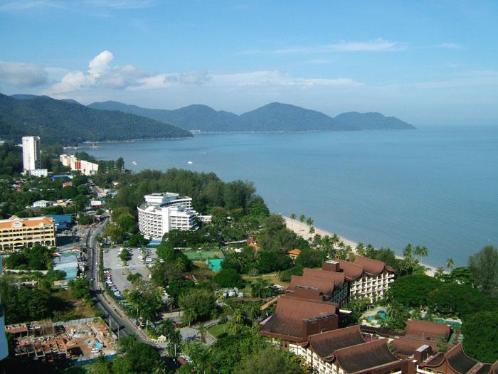 Uitzicht vanaf Sri Sayang
