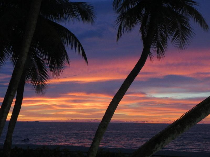 Sunset on the beach 3 minutes walk away.
