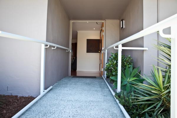 Extra wide doorways.