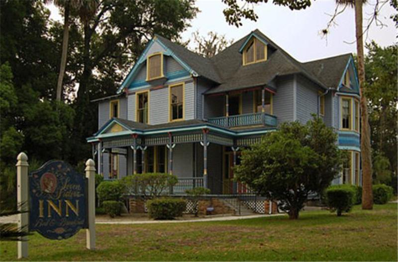The Rheinauer House is a 1890 Gothic Victorian in Ocala's Historic District