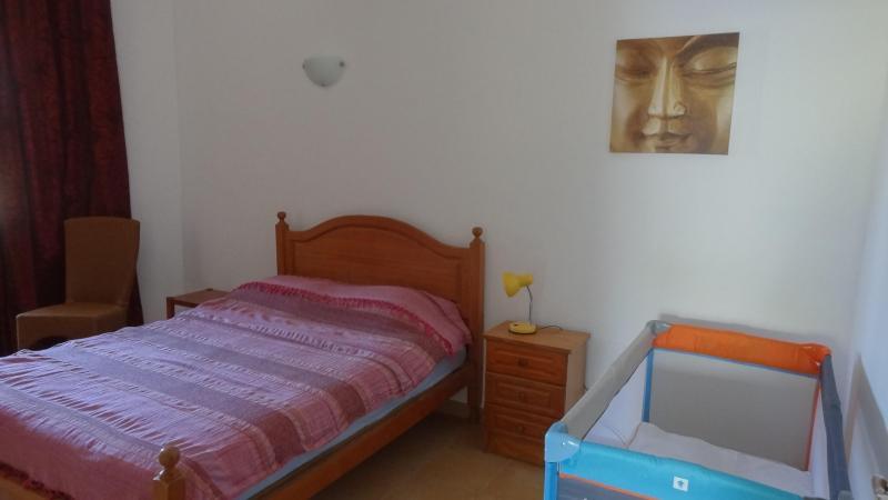 Bedroom 1 Cot on request!