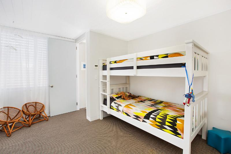 Second bedroom with King Single bunks