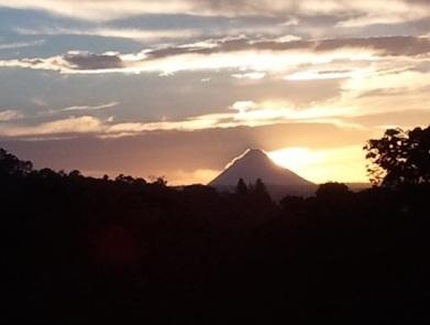 Volcano View from the house
