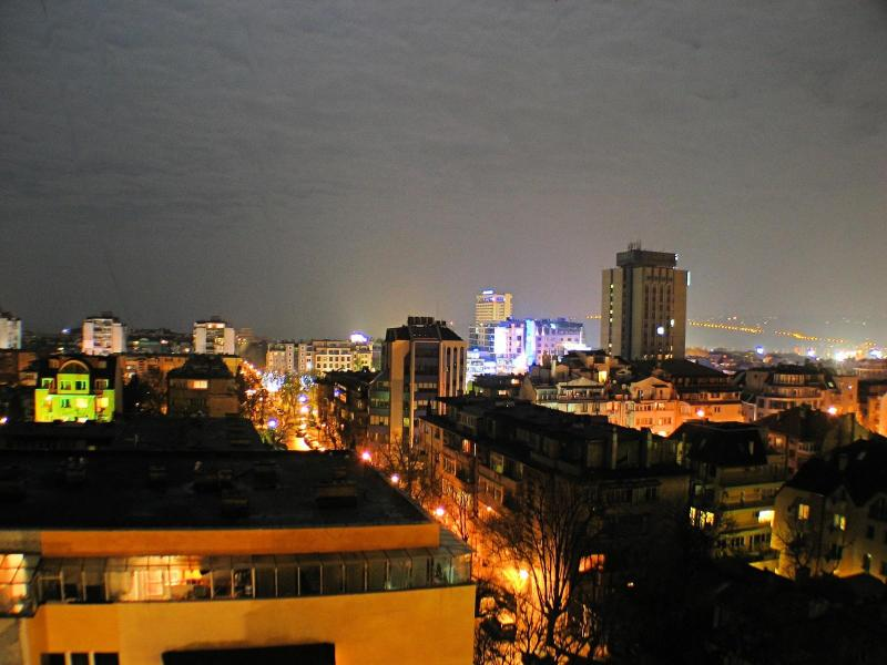Spectacular Night View over the city
