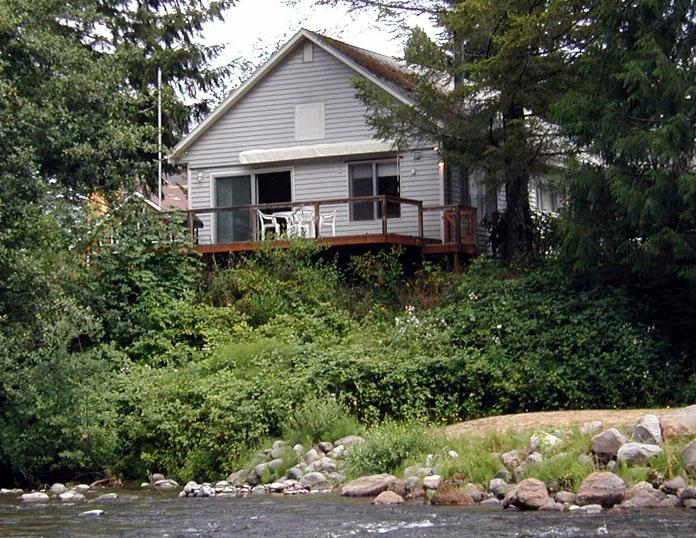 View of house from across the Salmon River