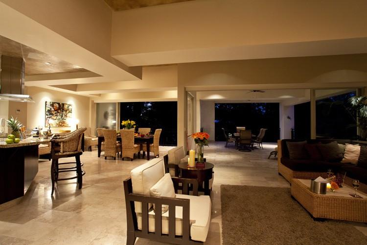 The living space feels so spacious and is perfect for a group.