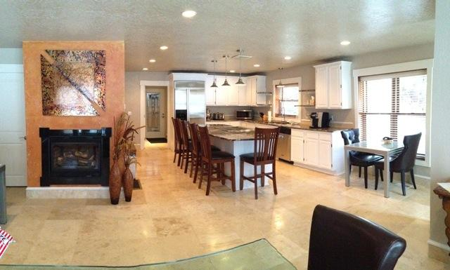 Great kitchen for cooking and gathering.