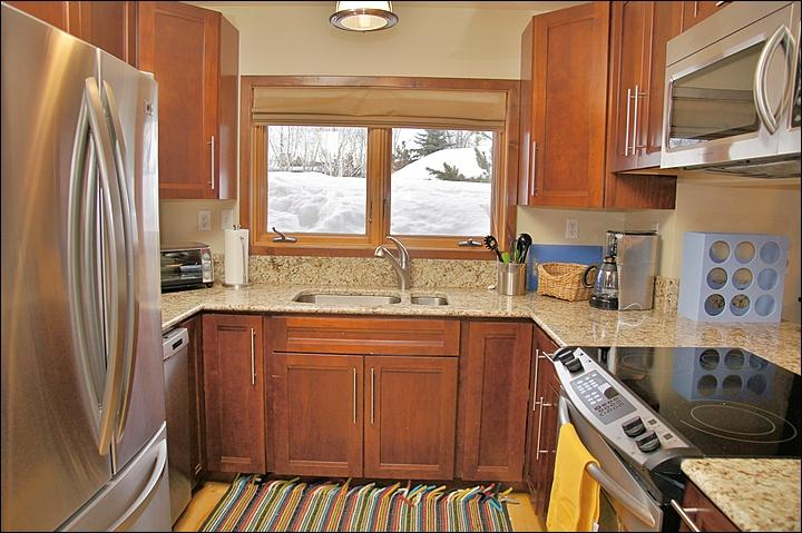 New Appliances, Cabinets, & Counters in the fully equipped Kitchen.