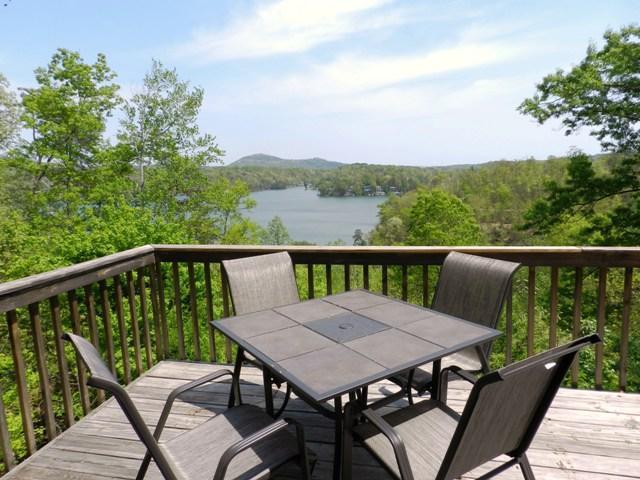 Enjoy breakfast on the deck overlooking Lake Lure