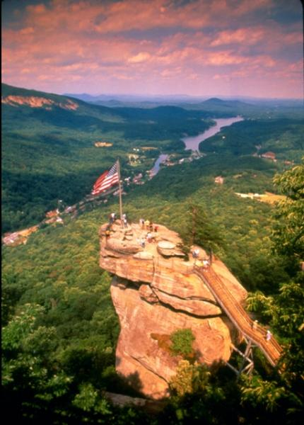 Chimney Rock State Park is only 3 miles away.