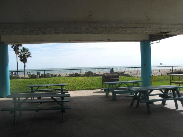 Picnic area by the beach