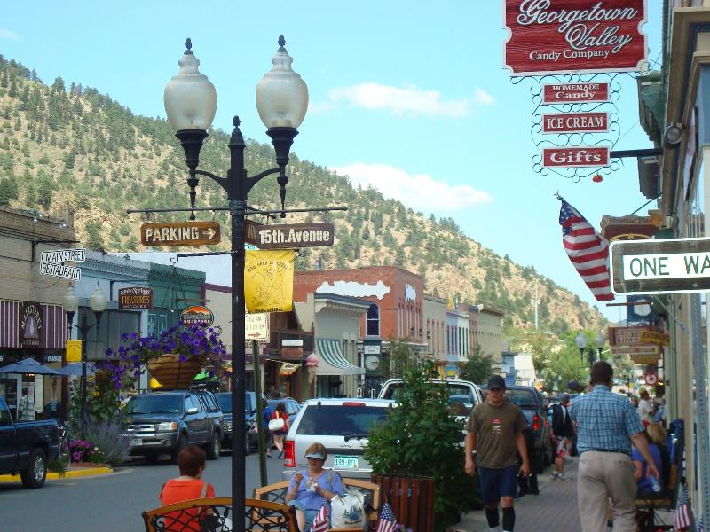 HISTORIC IDAHO SPRINGS: MAIN STREET HAS RESTAURANTS, COFFEE SHOPS, MUSEUMS, ANTIQUE SHOPS...