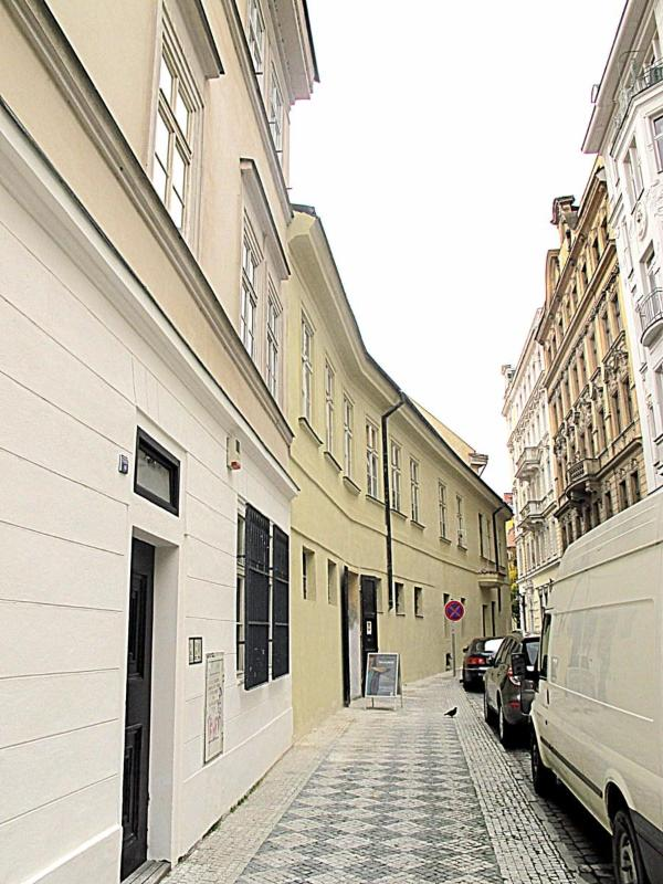 the narrow streets of the old town