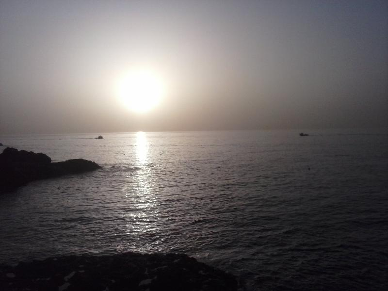 sunrise, taken in april, 10 metres from entry