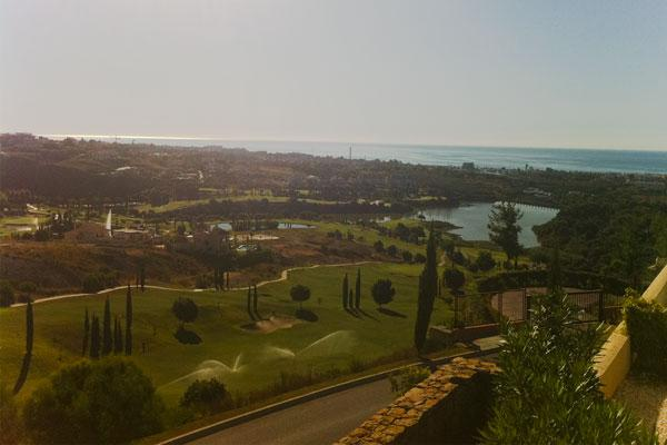 Views to sea across the golf courses
