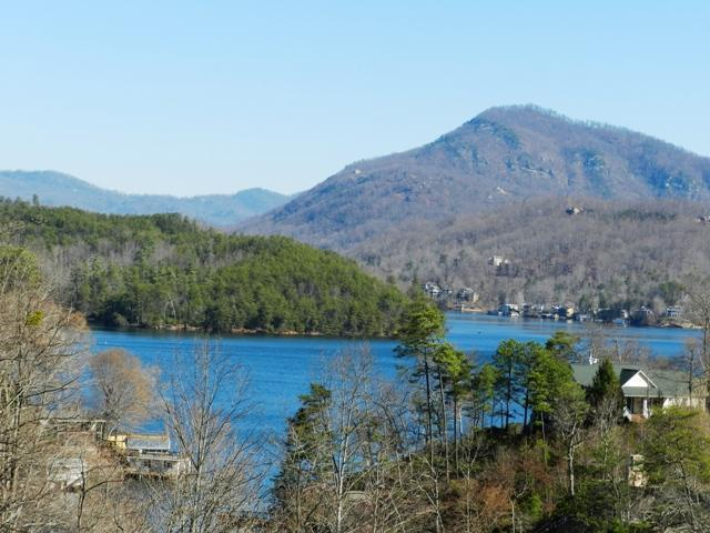 View of Lake Lure and mountains from deck