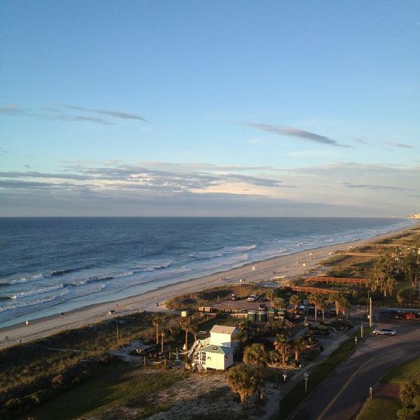 La vista desde el balcón