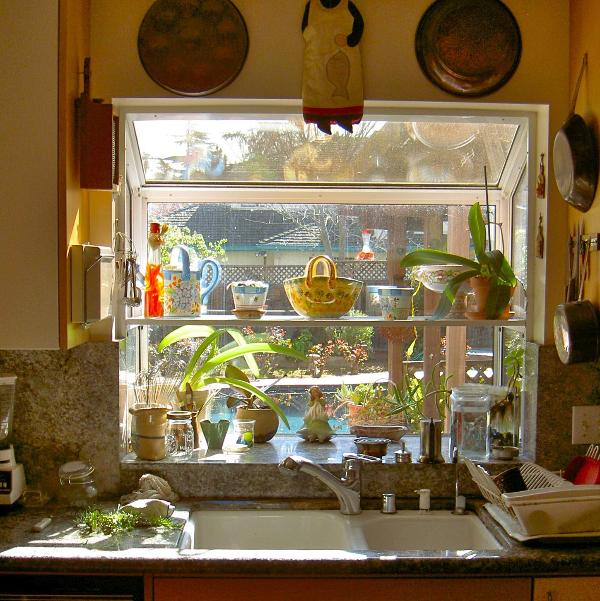 Garden window in kitchen