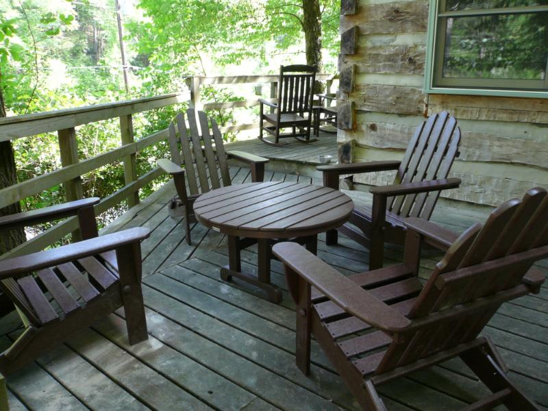 Deck w/ Adirondack Chairs and Table