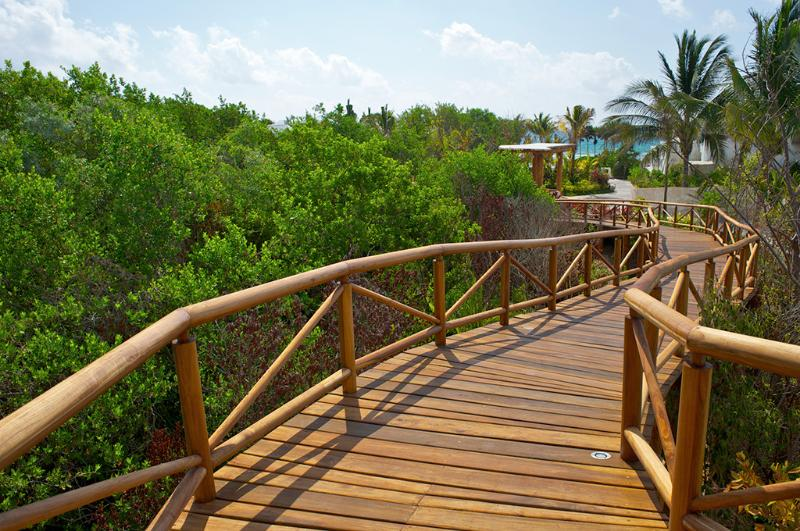 Elevated Walkways to the Beach and Pools