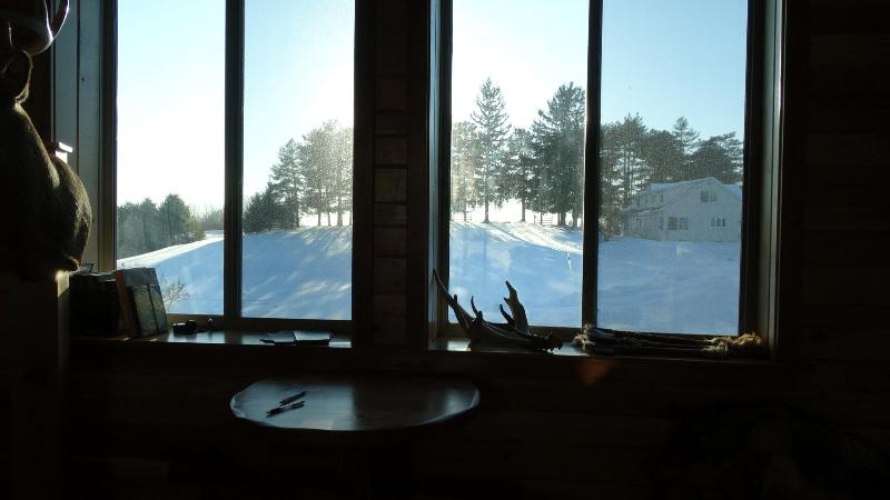 Winter in Wisconsin as seen from the lodge