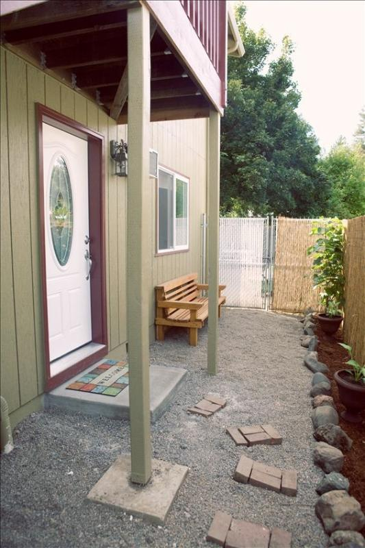 Outside Entrance and Sitting Area