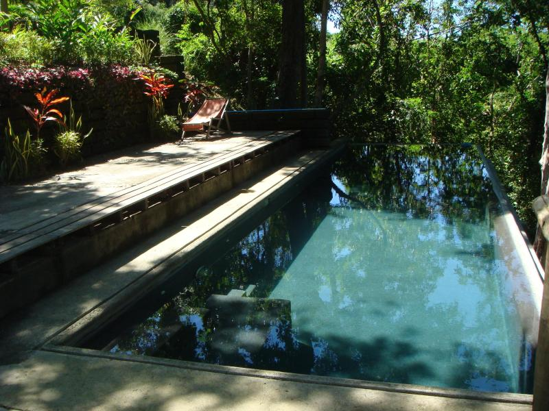 Cool off with a dip in the shared pool
