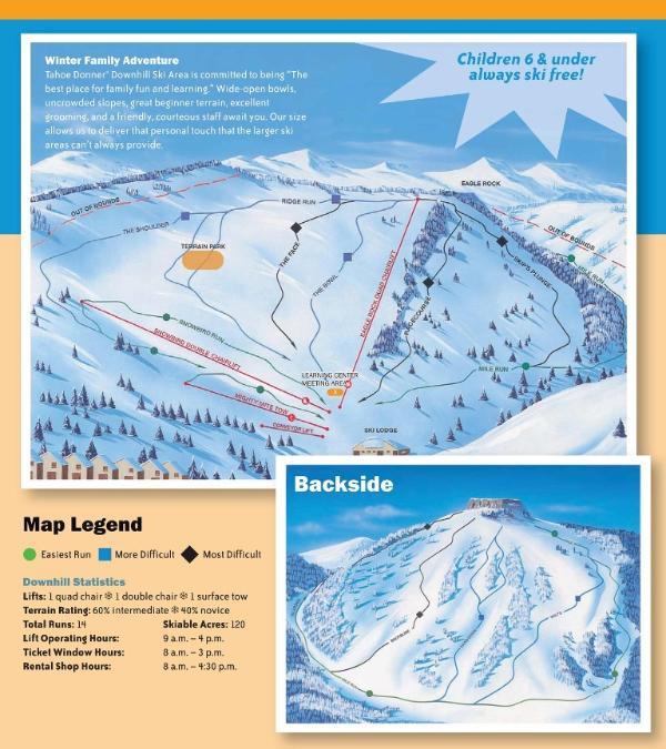 Tahoe Donner Ski Trail Map
